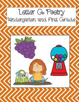 Letter G Poetry Kindergarten & First Grade | Terrific