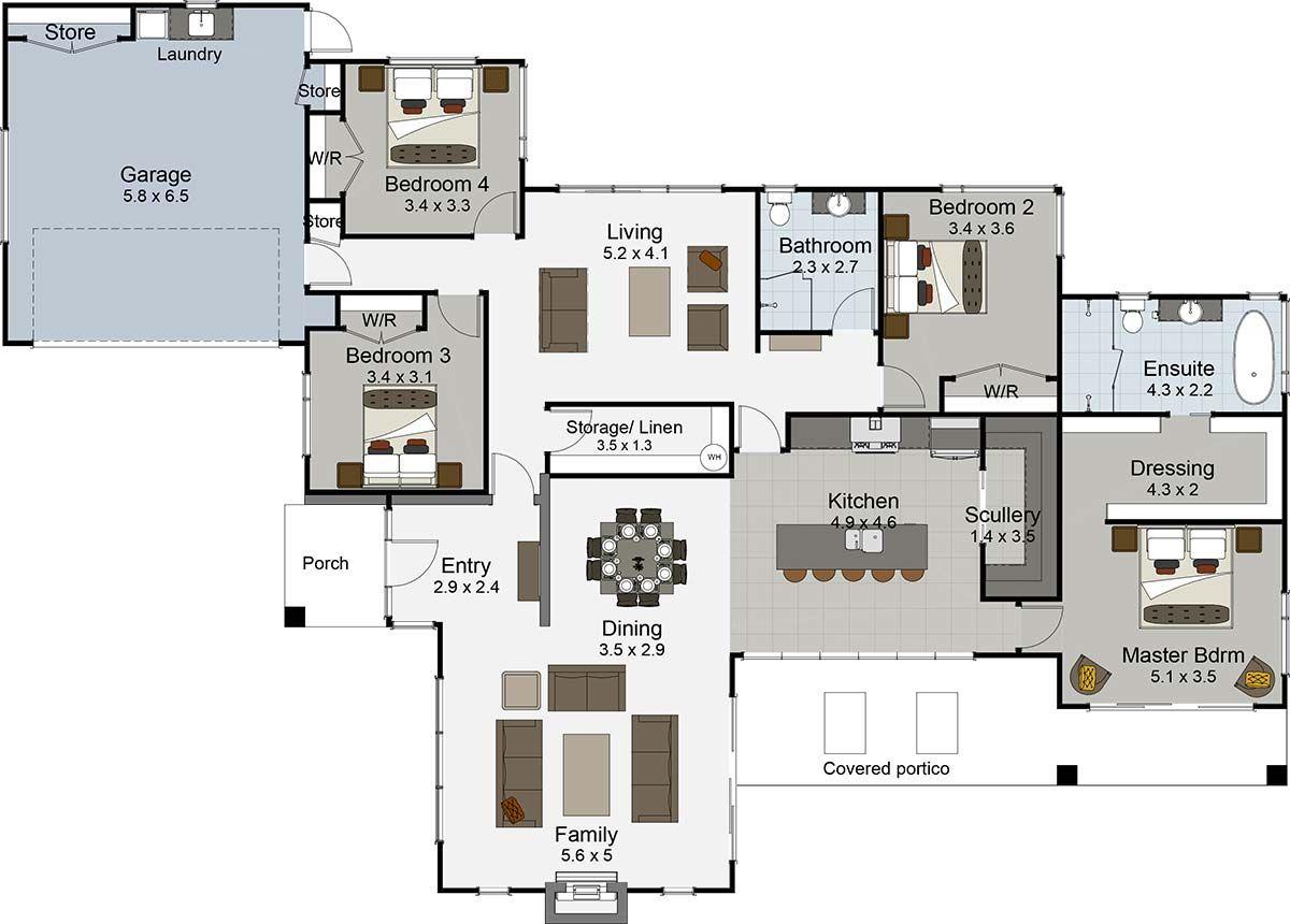 ovation 4 bedroom house plan landmark homes builders nz home