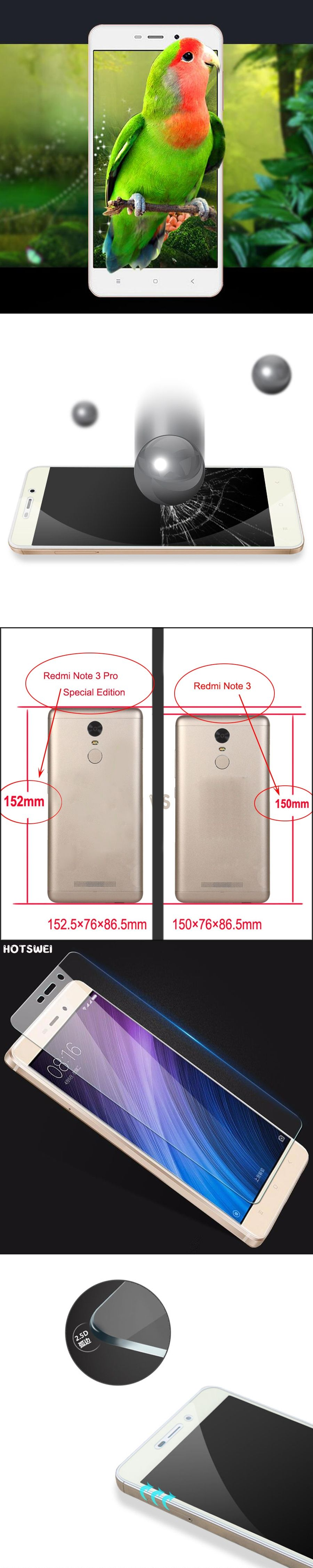 0 26mm 9H Tempered Glass for Xiaomi Redmi 3 3s pro Mi 5 Mi4 Mi4C 4i