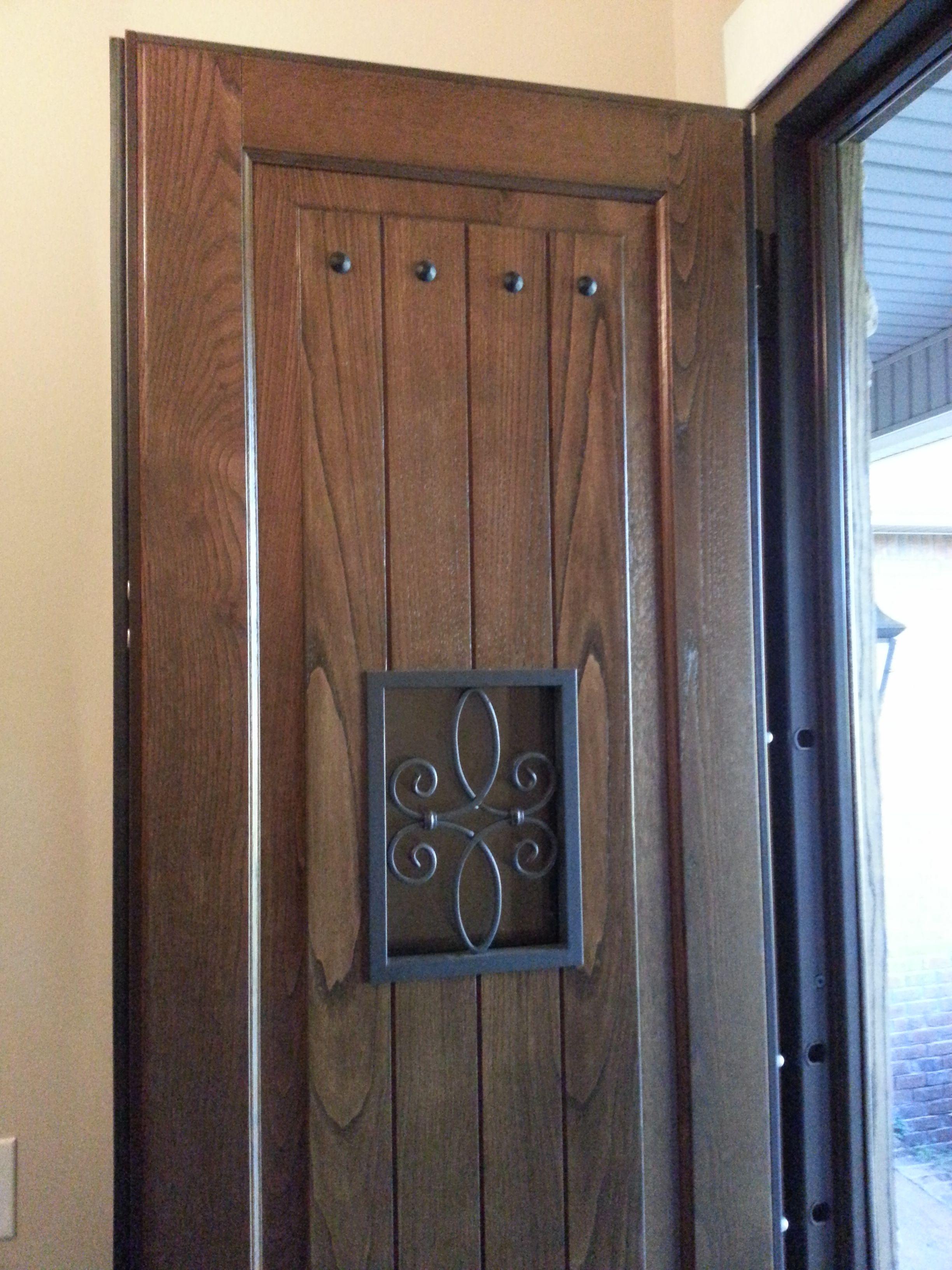 Steel Security Door Hardwood Panel Multi Point Locking System Steel Security Doors Security Door Doors