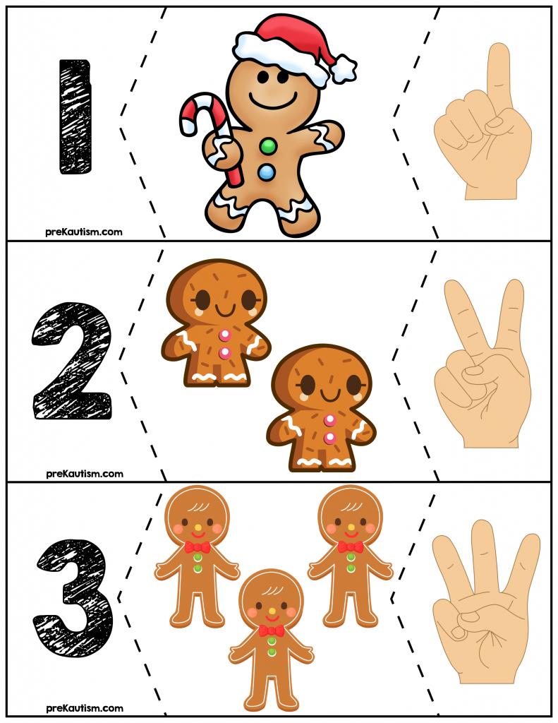 Free Gingerbread Men Quantity Puzzles S 1 10 Gingerbread Man Preschool Preschool Christmas Preschool Activities [ 1024 x 791 Pixel ]