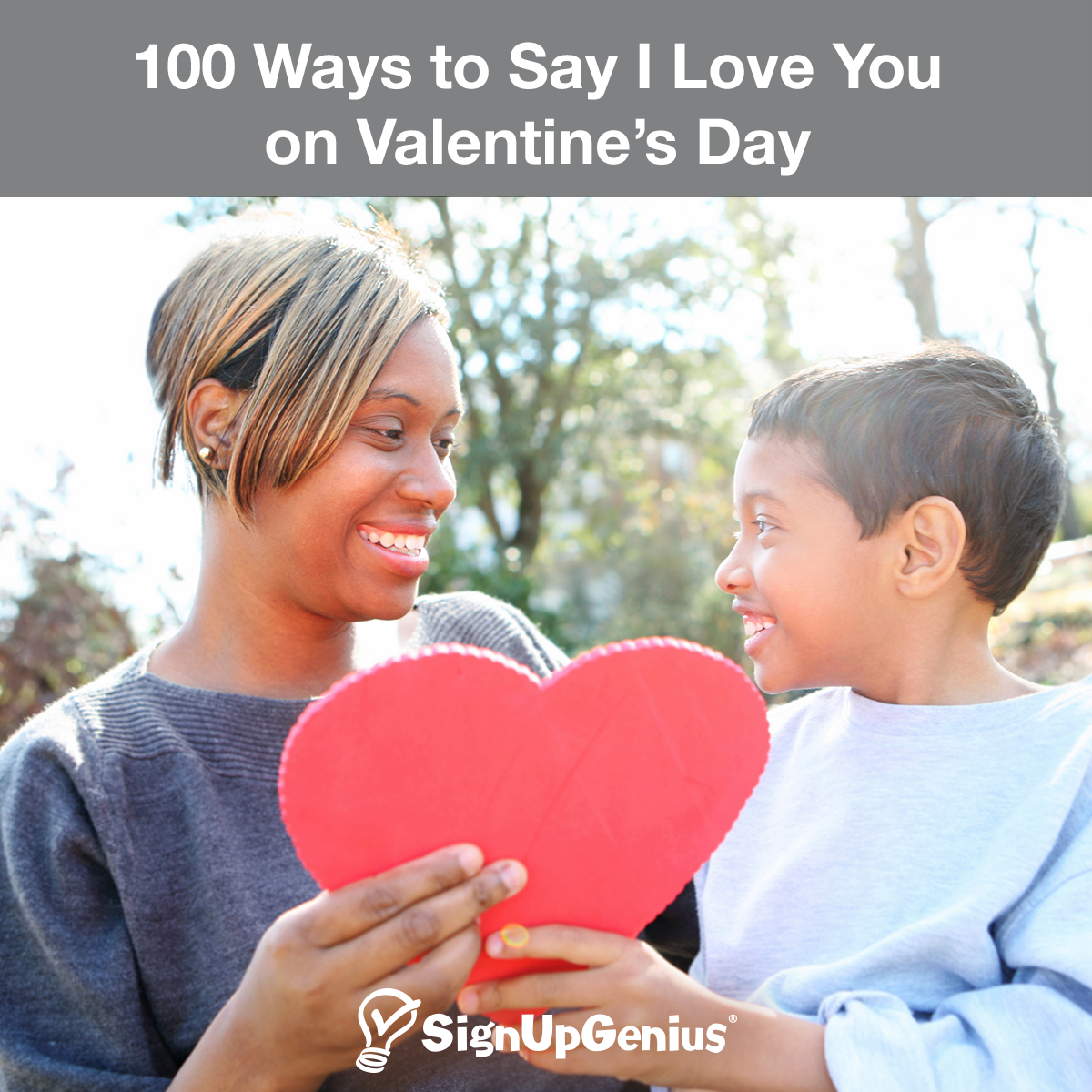 100 Ways to Say I Love You on Valentine's Day 100 Ways to Say I Love You on Valentine's Day. Show acts of kindness to your family, children, spouse and friends.