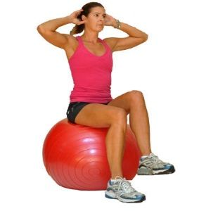 how to tone your abs with ball workouts  ball exercises