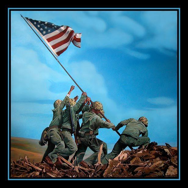 Iwo Jima Ken Hendrickson Iwo Jima Version Iwo Jima Flag Iwo Jima Battle Of Iwo Jima