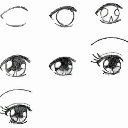 35+ Trends For Cute Anime Girl Eyes Drawing Easy