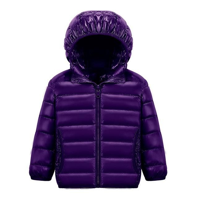 a3cabb300 Boy s Down Jackets Kids Autumn Winter candy color Thin Light Down ...