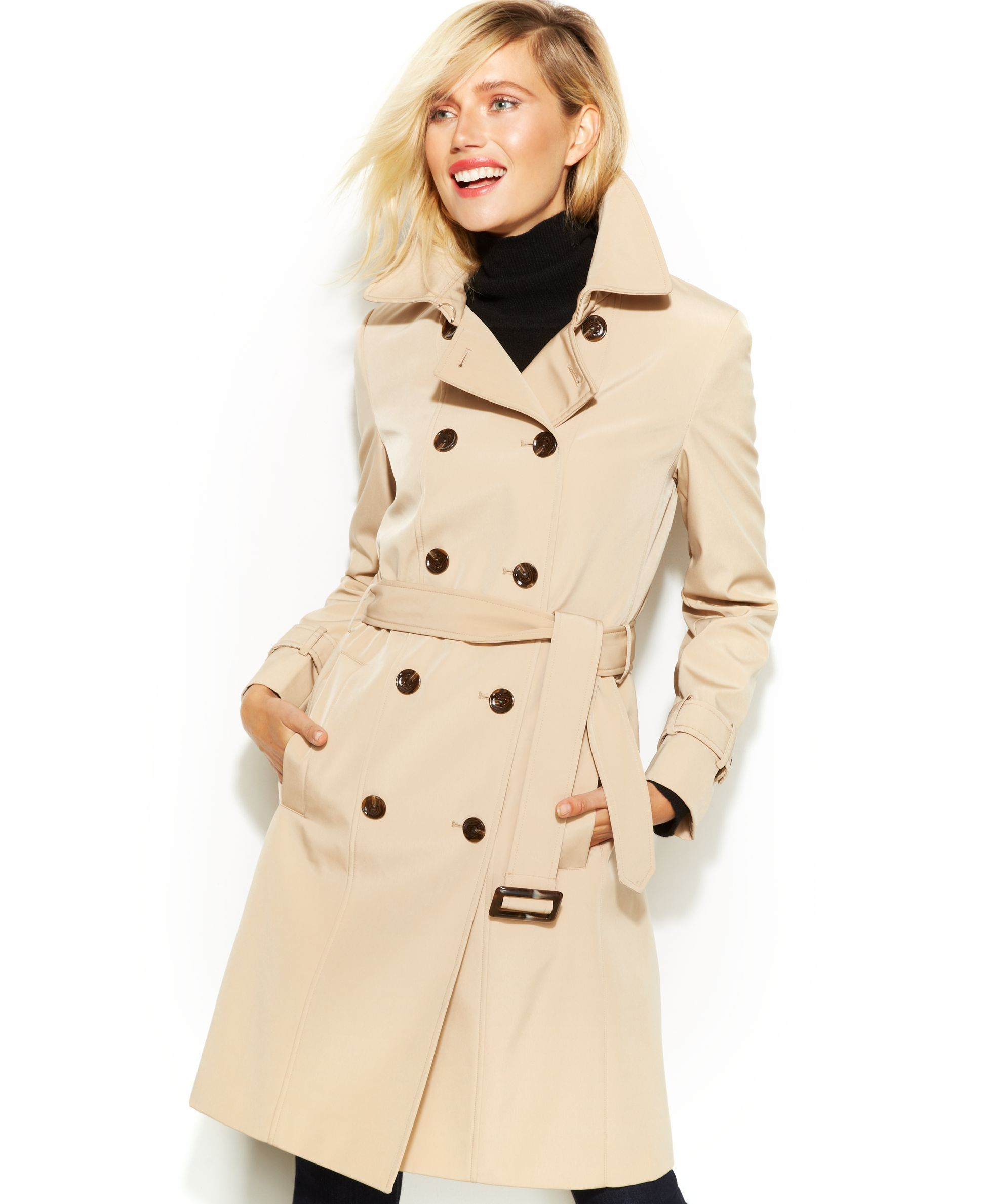 Calvin klein belted trench coat with removable lining