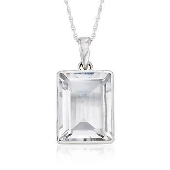 2000 carat rectangular rock crystal necklace in sterling silver quartz pendant smoky quartz pendants quartz pendant necklaces ross simons carat rectangular rock crystal aloadofball