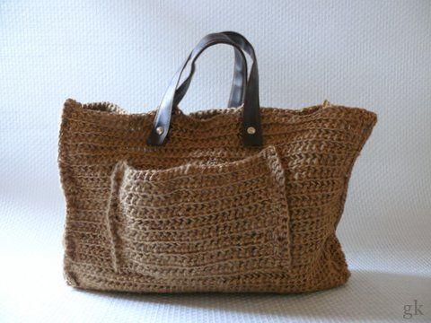 Gkkreativ Tasche Aus Paketschnur Knit Knit Pinterest