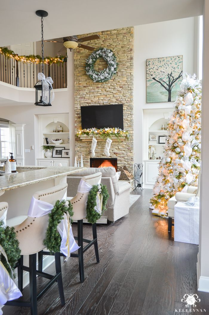 open-concept-christmas-home-decorating-ideas ☆ Hometalk Christmas - christmas home decor