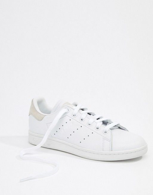 adidas Originals Stan Smith Sneakers In White and buff