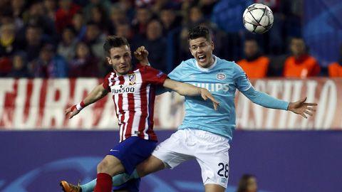 Đánh bại PSV, Atletico tiến thẳng tứ kết Champions League