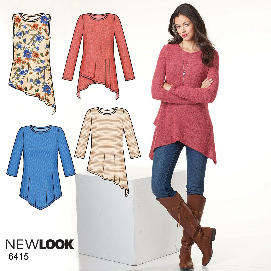 The asymmetric hemline gives this knit tunic a more edgy appeal! New ...