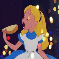 Is that you Alice? Alice in Wonderland.