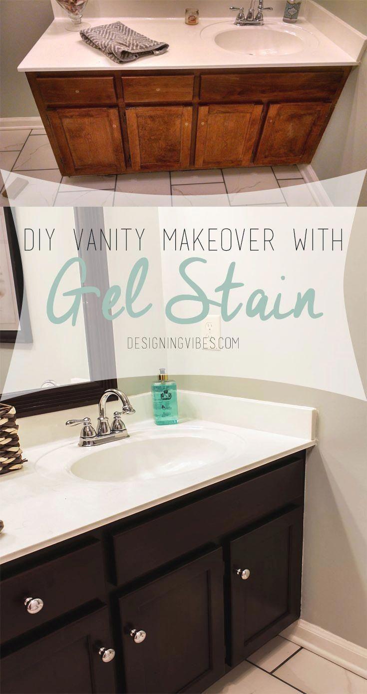 Photo of Transforming Bathroom Vanity with Gel Stain- Java Gel Stain