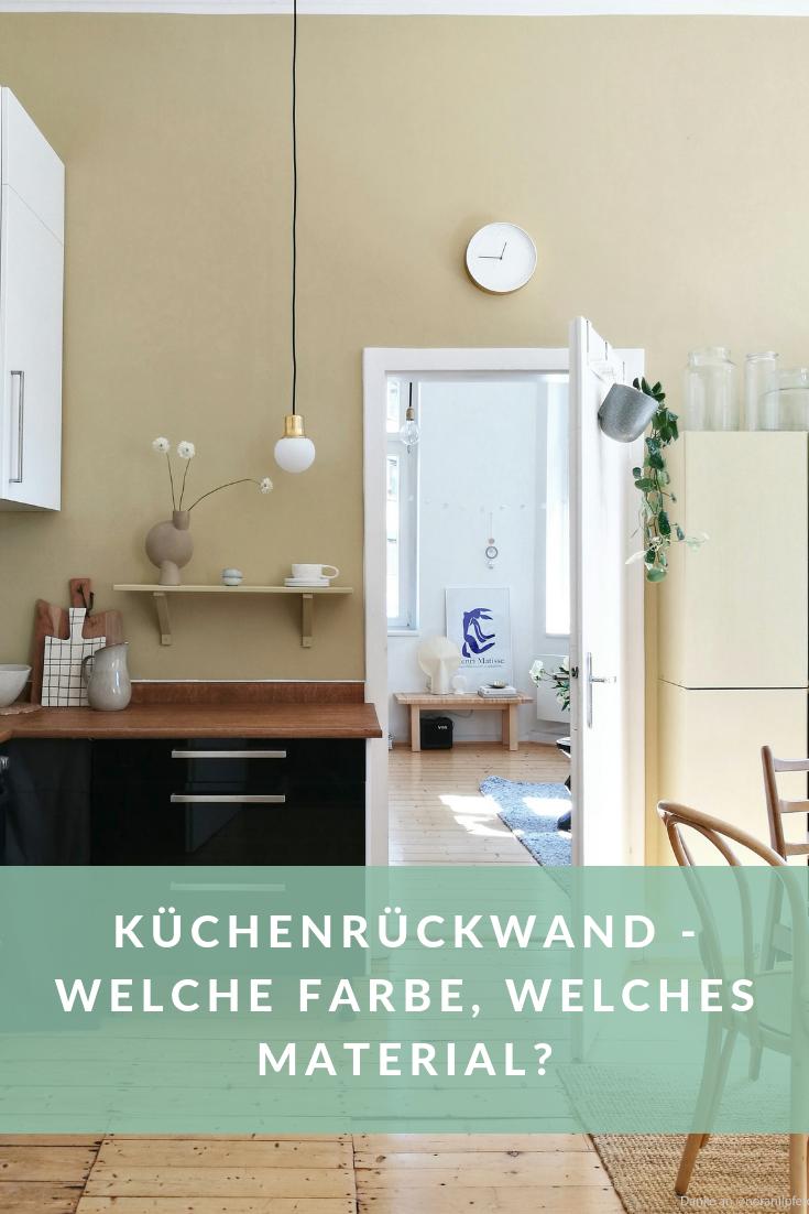 Wandfarbe als Spritzschutz für die Küche von www.kolorat.de ...