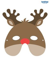 Free Printable Reindeer Mask Manualidades Manualidades Navidad