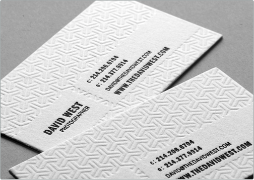 All White Embossed Business Card Clean Business Card Design Embossed Business Cards Business Card Design
