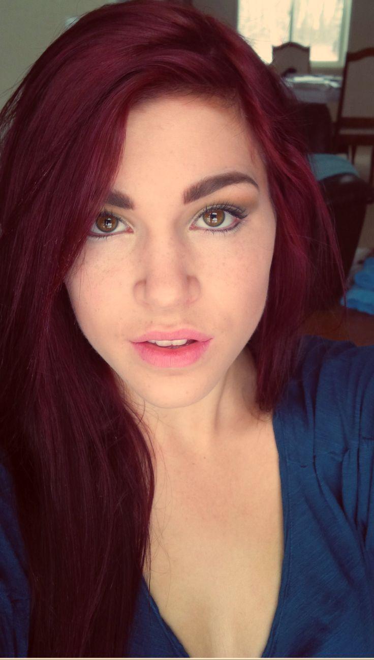 Cute Loreal Dark Red Hair Dye  Magenta hair, Brown hair dye, Hair
