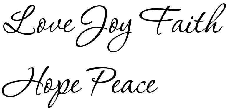 Love Joy Faith Hope Peace Tattoo Font Download Free Scetch Love Joy Peace Peace Tattoos Joy Tattoo