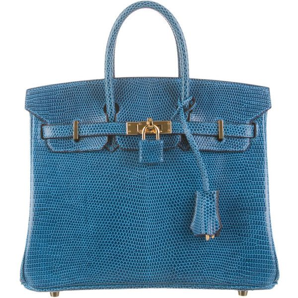 589767b78b54 Pre-owned Hermès Lizard Birkin 25 (€21.225) ❤ liked on Polyvore featuring  bags