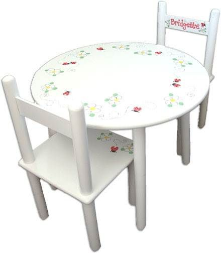Lady Bug table | Kids table and chairs, Round table and