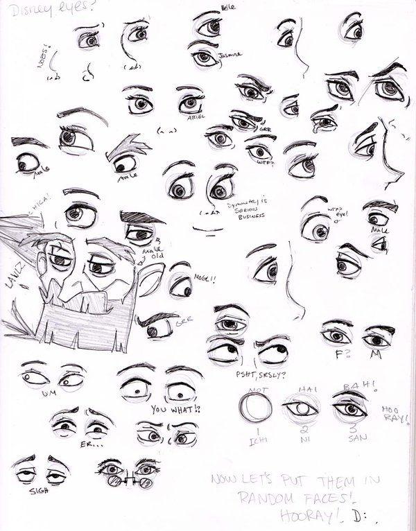 Disney Eyes By Painting Monkey On Deviantart Disney Art Style Disney Style Drawing Disney Eyes