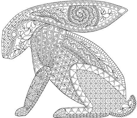 Luxury Rabbit Coloring Book 73 Zanimals Rabbit Coloring Page
