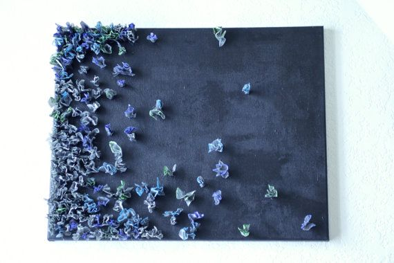 Midnight  Plastic on Canvas by MiccoHome on Etsy, $20.00