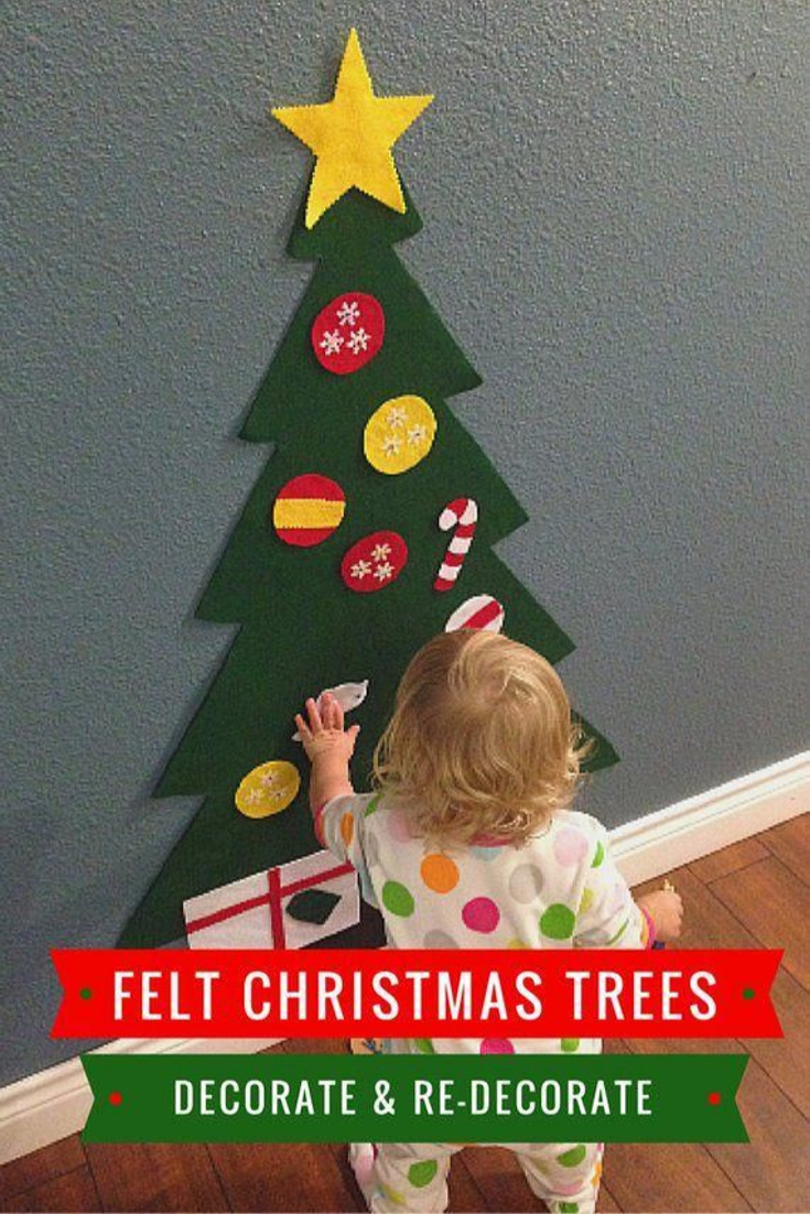 High Quality Made Of High Quality Felt Fabric Not Harmful For Kids And No Bad Smells Will Be Th Felt Christmas Tree Felt Christmas Affordable Christmas Gifts