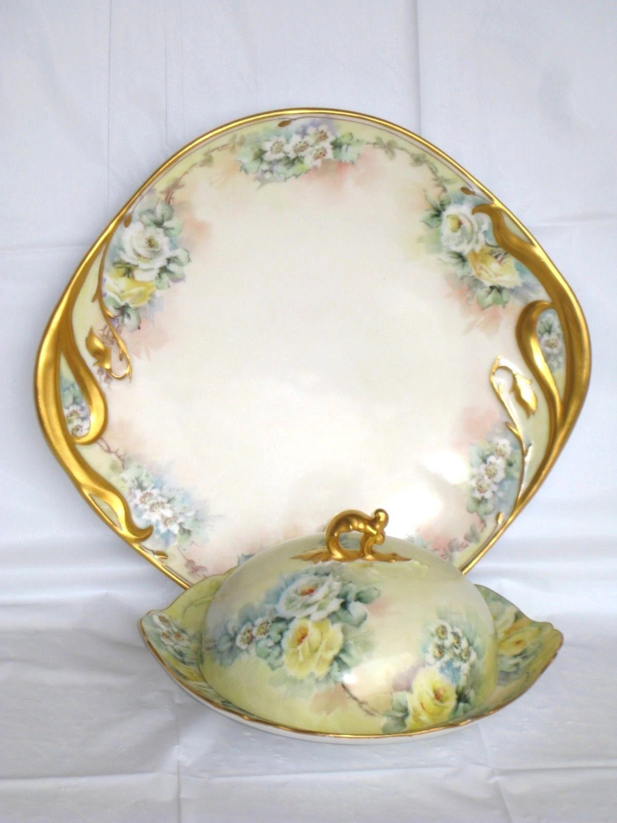 LIMOGES J. P. POUYAT T&V FRANCE BASSETT AUSTRIA SET: TEAPOT,CUP, SAUCER,PLATE..  | Pottery & Glass, Pottery & China, China & Dinnerware | eBay!