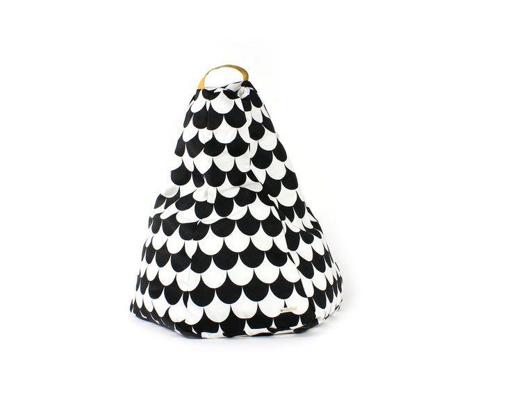 Pouf Écailles Noir Modèle Marrakech De Nobodinoz   Chambre Rikik