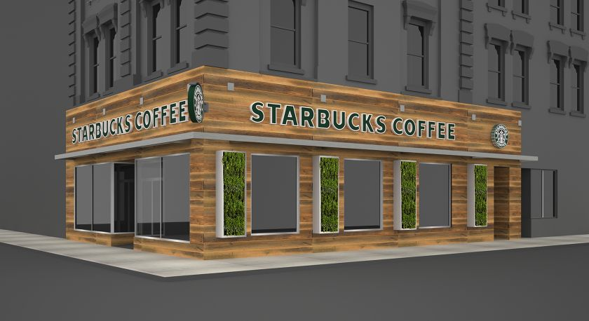 Modern London Starbucks Storefront Design | Downtown architecture ...