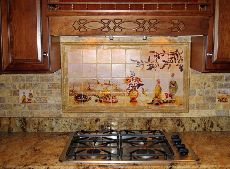 Mural Tiles For Kitchen Decor Tuscany Kitchen Décor  Kitchens Kitchen Backsplash And Tuscany