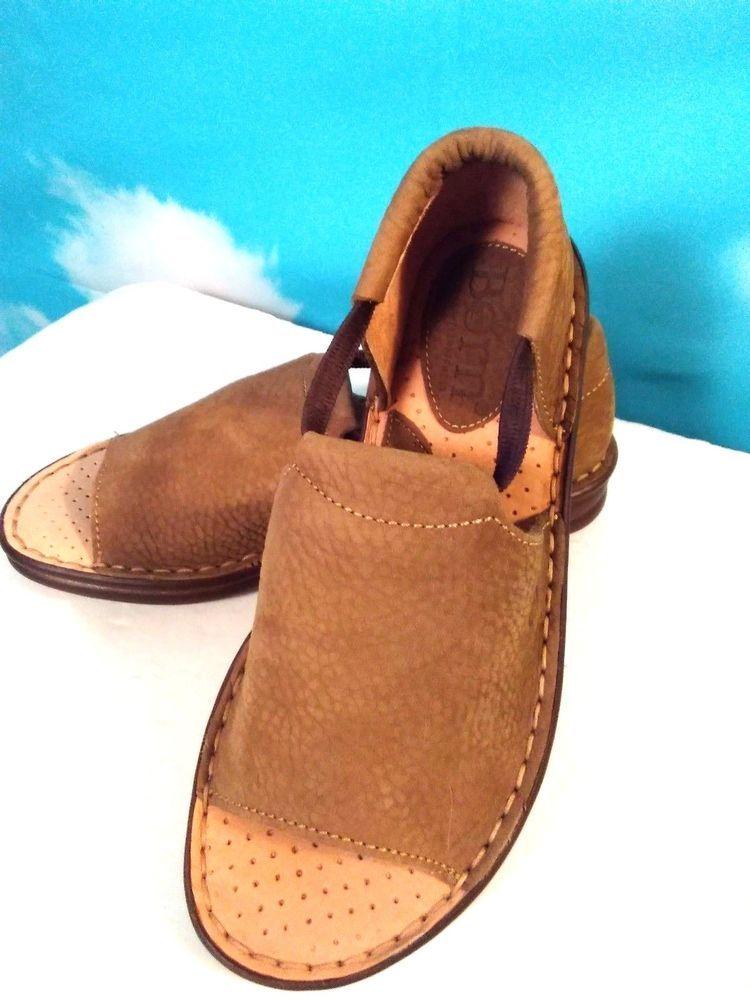 c287edbf3905d Born Brown Elastic Strap Open Toe Closed Back Sandals Size 9 M Women s   Born  OpenToe  WeartoWorkCasual
