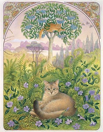 theromanticheart:  Lesley Anne Ivory cats