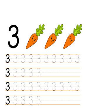 Zahlen Und Zahlen Lernen Zahl 3 Zahlen Lernen Vorschule Lernen