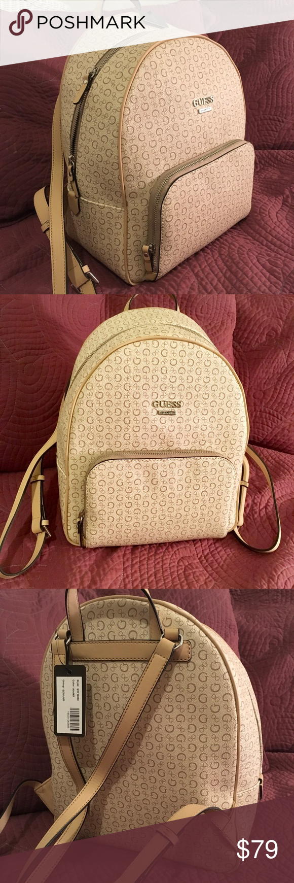 huge sale nice cheap special discount GUESS BACK PACK EDMUND, KHAKI, SV713830 🤩💕 🎒 CUTE AND ...
