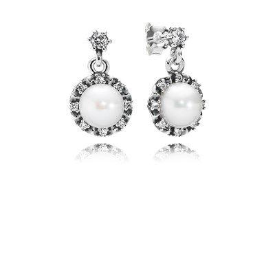 760e1b13b Everlasting Grace Earrings, White Pearl & Clear CZ - 290562P ...