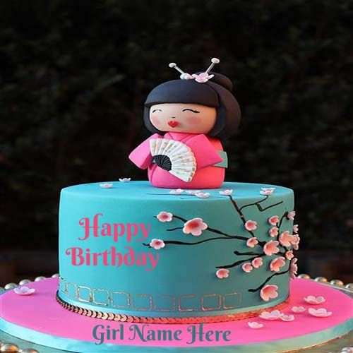 Write Your Name On Happy Birthday Cakes For GirlsFree Create