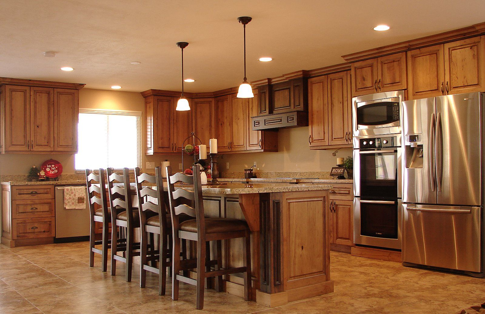 Rustic Cherry Cabinets With Images Kitchen Cabinet Design