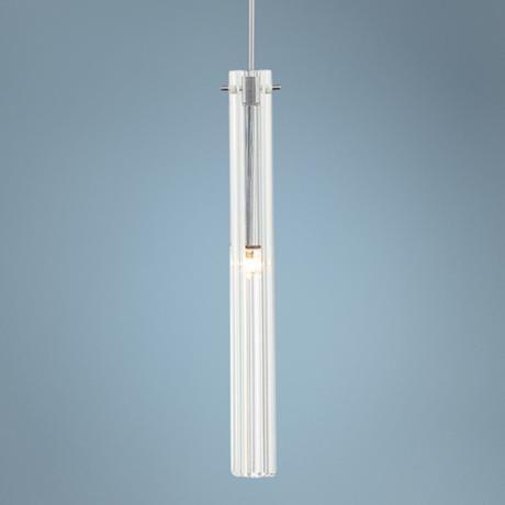 Possini euro design clear glass tube mini pendant light n6753 lamps plus kitchen pendant lightingkitchen