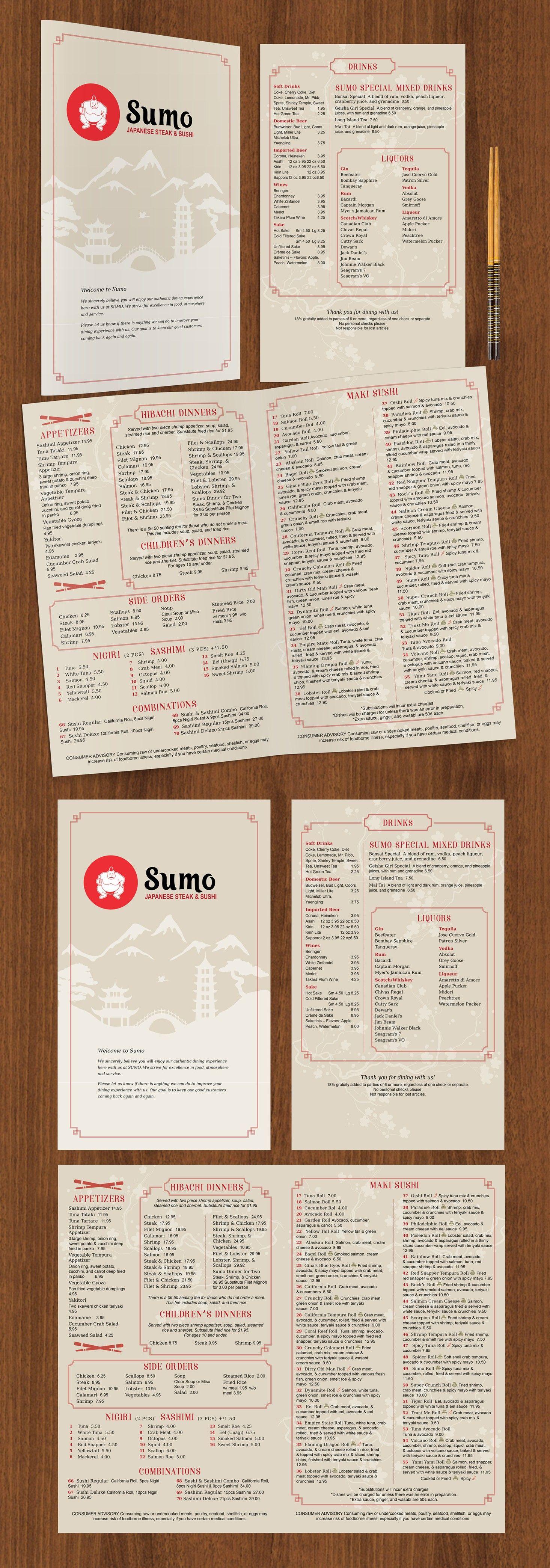 Japanese Sushi Steak House Menu 99designs