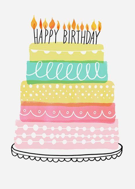 Margaret Berg Art Illustration birthday celebrate
