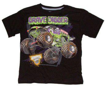 Amazon Com Monster Jam Grave Digger Boys T Shirt 7 Clothing Boys T Shirts Shirts Monster Jam