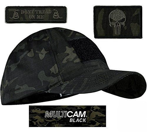Condor Flex Tactical Cap /(Black, L//XL/) + FREE Grey PVC
