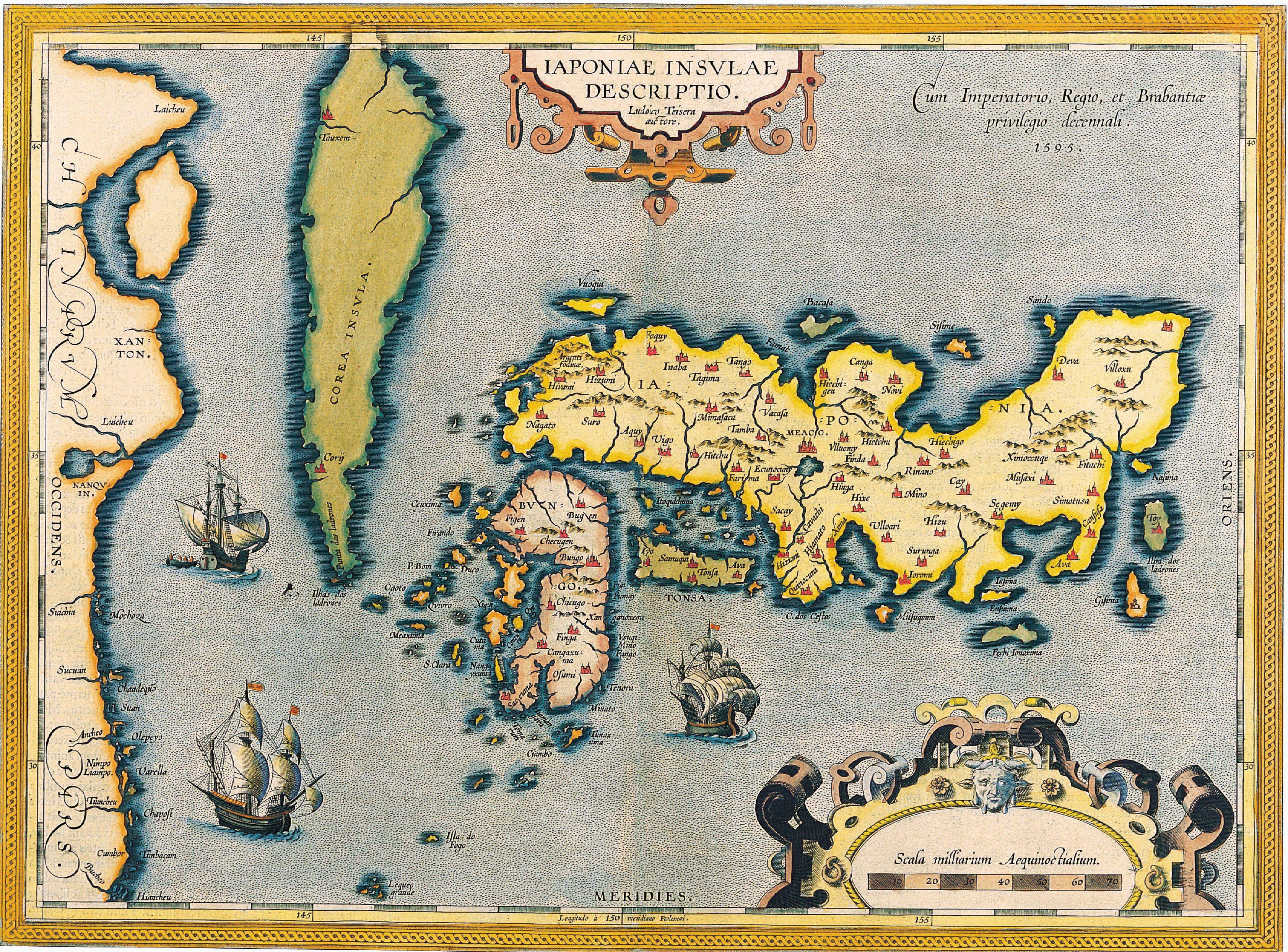 Map of japan abraham ortelius c 1590 maps pinterest antique maps antique maps of the world map of japan abraham ortelius c 1590 gumiabroncs Images