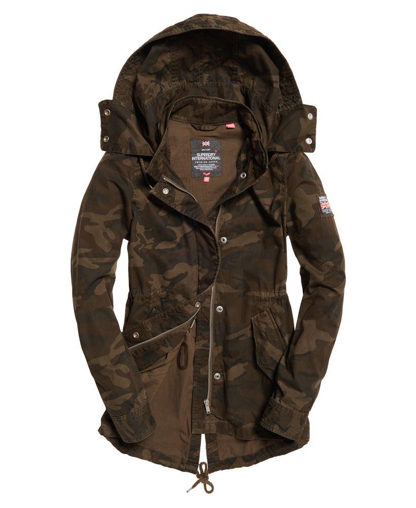 bd05c0c5e8b03 Womens - Rookie Festival Parka Jacket in Alpine Camo | Superdry | My ...