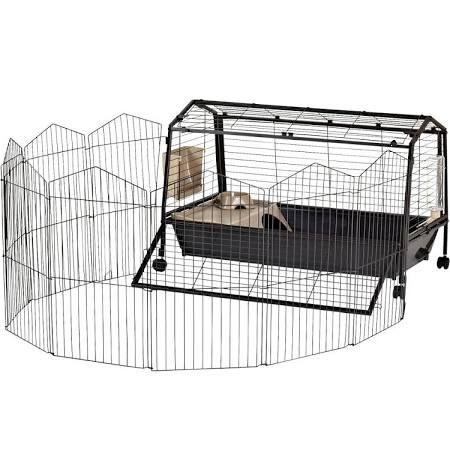 Oxbow Rabbit Habitat With Play Yard Black Amp Brown