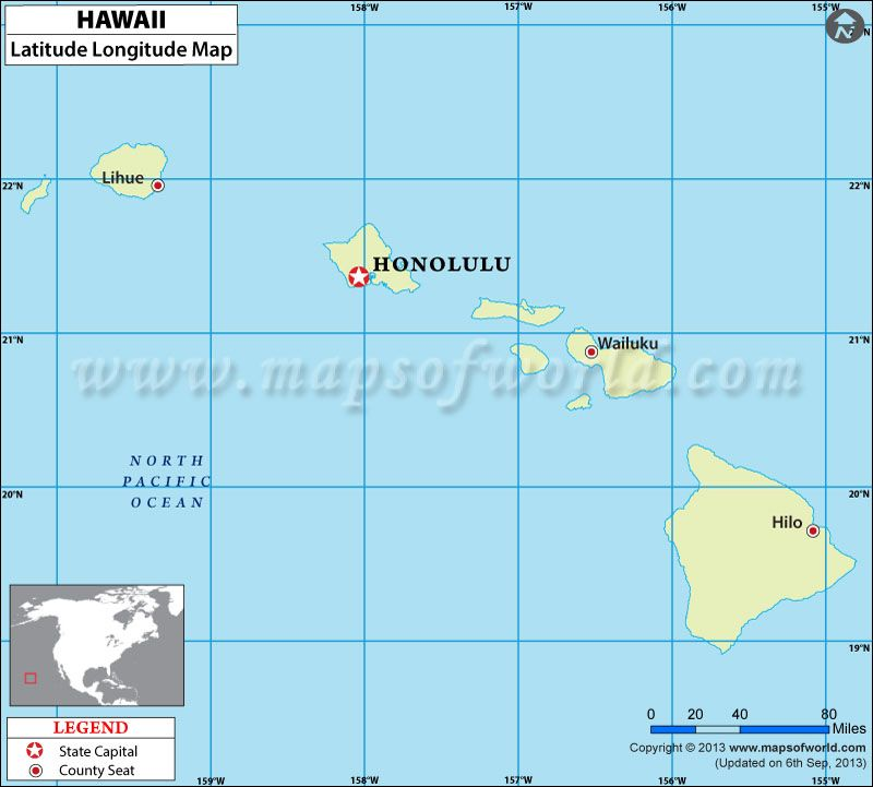 Hawaii Latitude and Longitude Map USA Maps Pinterest Lat